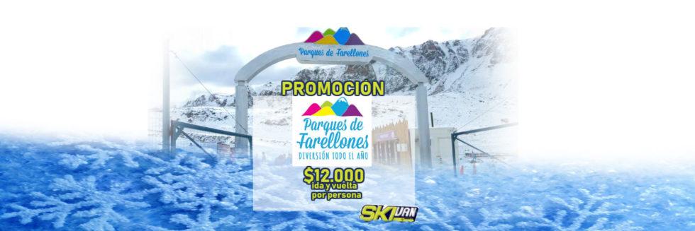 parque frellones $12000 por persona, transporte a la nieve